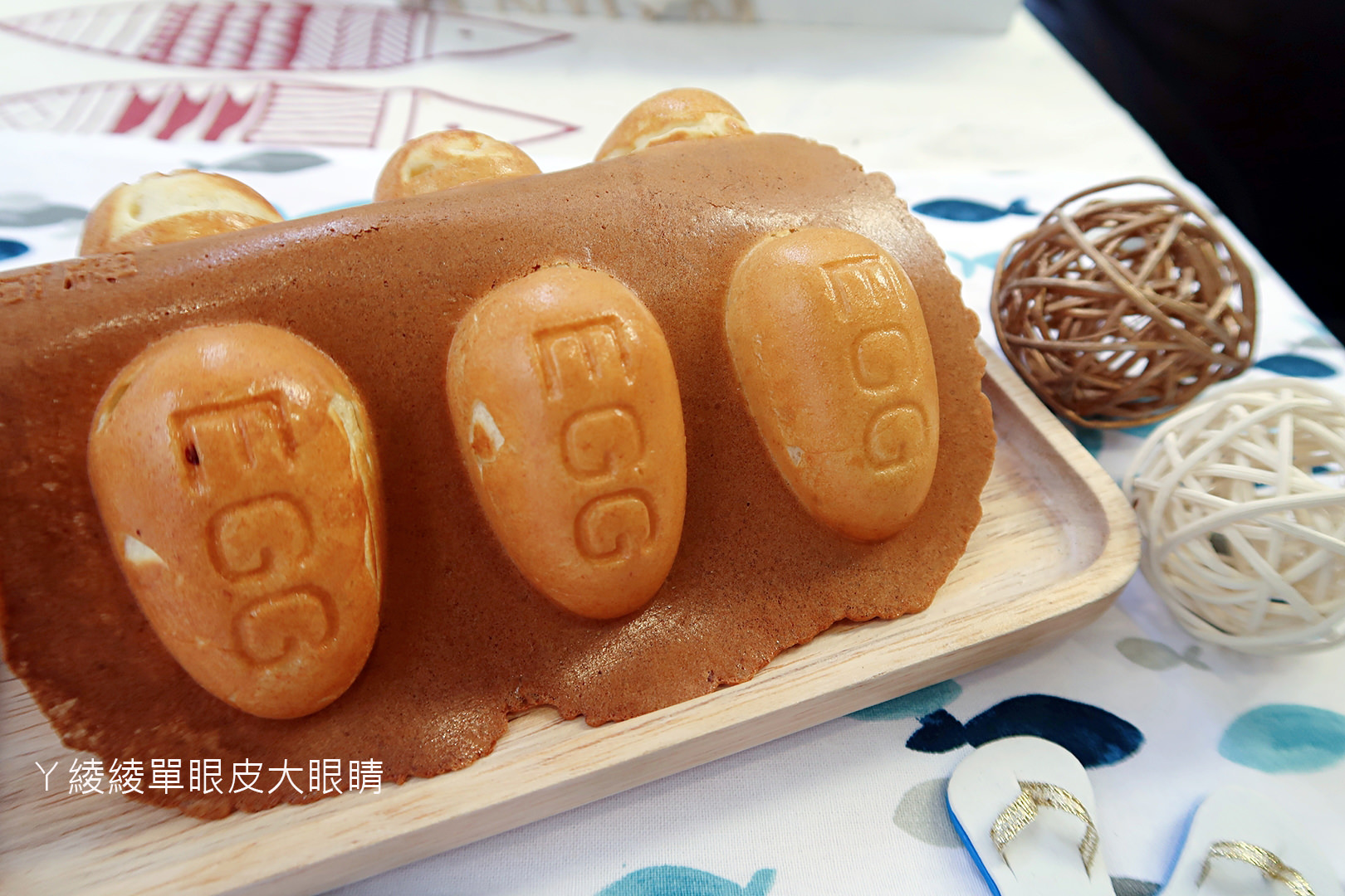 台中逢甲貴婦級小吃,限定隱藏版創意脆皮雞蛋糕《魚你同在手作鯛魚燒 雞蛋糕》