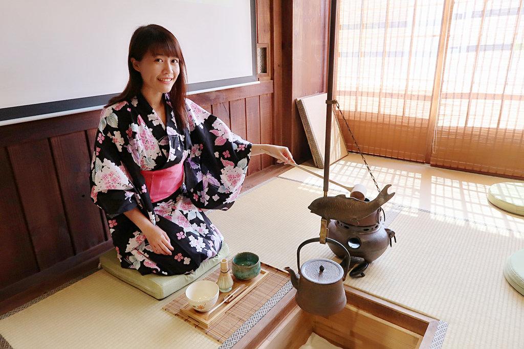 新竹免費旅遊景點!【新竹日藥本舖】江戶村博物館,品嘗和菓子 日本和服 茶道教室