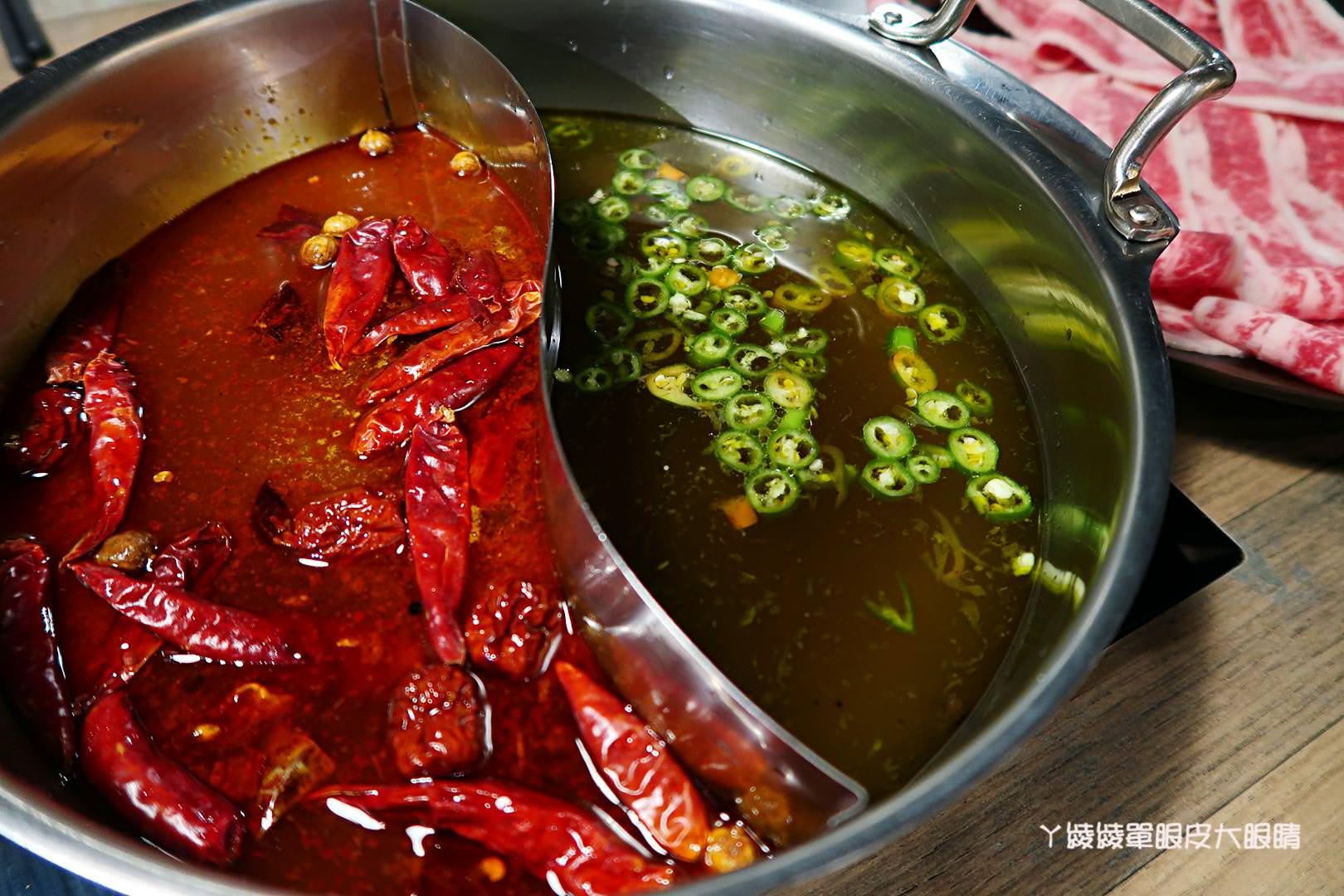 台北必吃火鍋推薦《饗樂shabu精緻鍋品》!嚇死人的大肉盤及新推出四川綠麻辣鍋