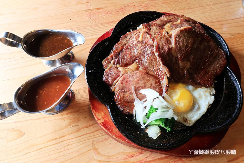 台南新營比臉還大的牛排|19號倉庫鐵板牛排,平價牛排店也喝得到珍珠奶茶!濃湯飲料無限暢飲