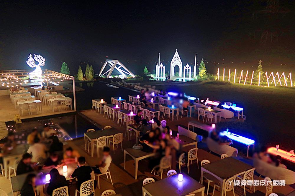 新竹看夜景好去處!夏季三角景觀咖啡廳,新竹湖口浪漫約會餐廳