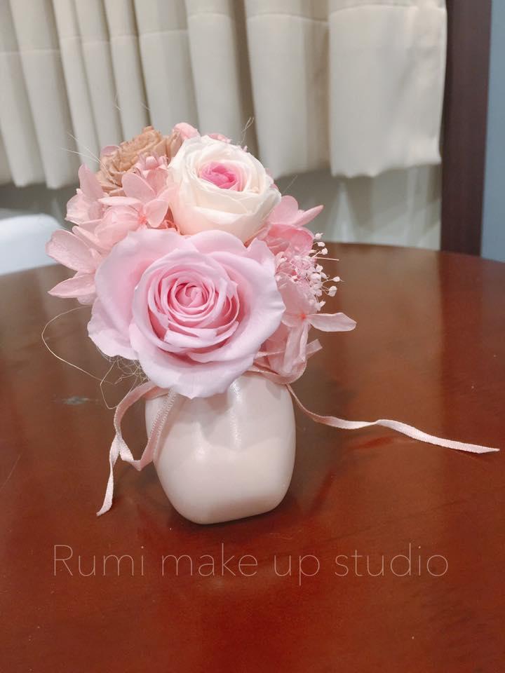新竹不凋花|永生花|乾燥花手作課程推薦!Rumi Make-up studio新娘秘書教學