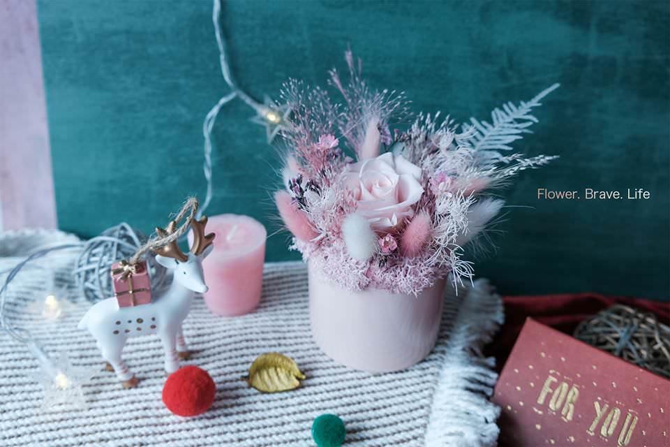 新竹不凋花|乾燥花|永生花工作室推薦《花敢森活 》,聖誕節禮物送這個!