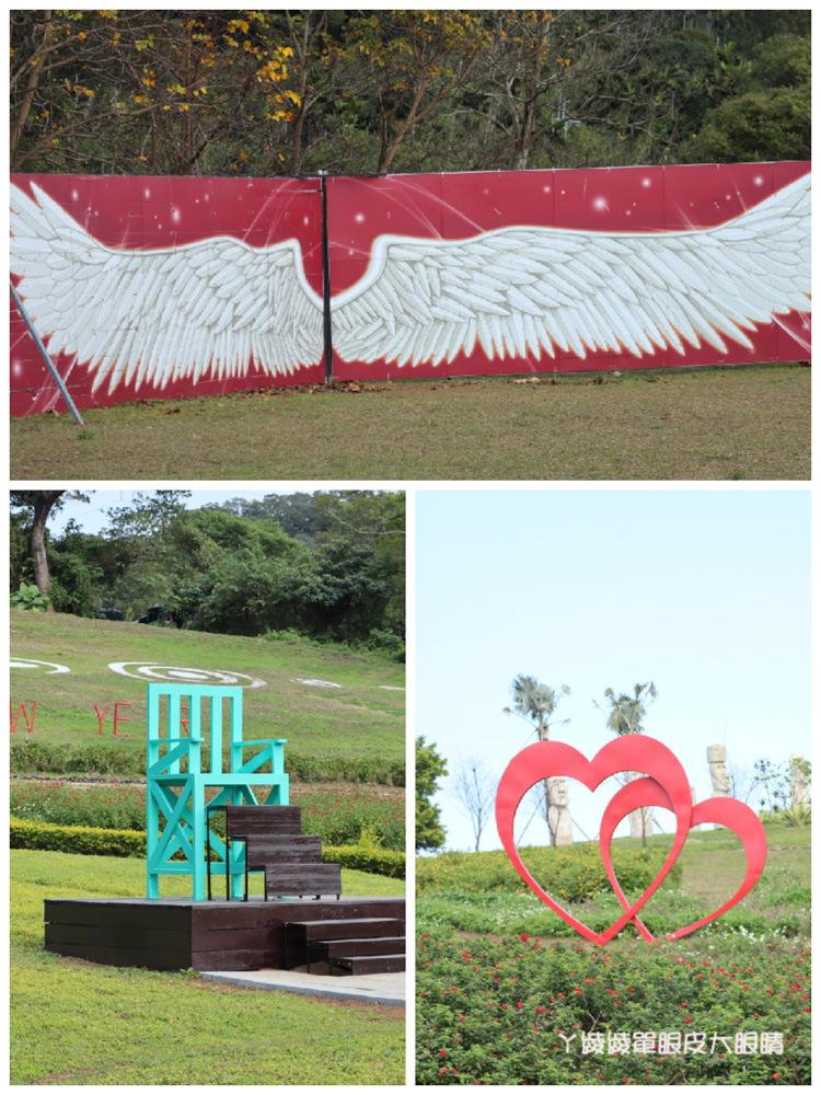 桃園旅遊景點推薦大溪花海農場,一起來找巨型摩艾石像跟Hana花花熊花田
