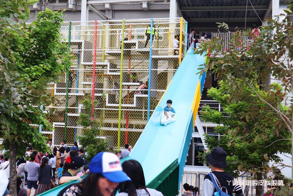 2019風的運動場在新竹文創館,正式開幕!接駁車及停車場交通資訊,巨型迷宮、漂浮單車、大型溜滑梯等九大遊具