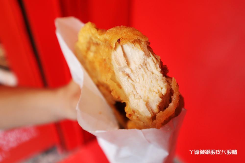 新竹下午茶外送推薦嵐町雞排!比臉還要大的爆汁厚切雞排,巨無霸酥炸深海魷魚