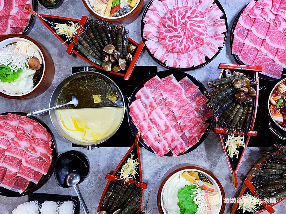 新竹火鍋無極限!竹北上官木桶鍋推出日本A5和牛吃到飽無限量供應,加碼送痛風海鮮船