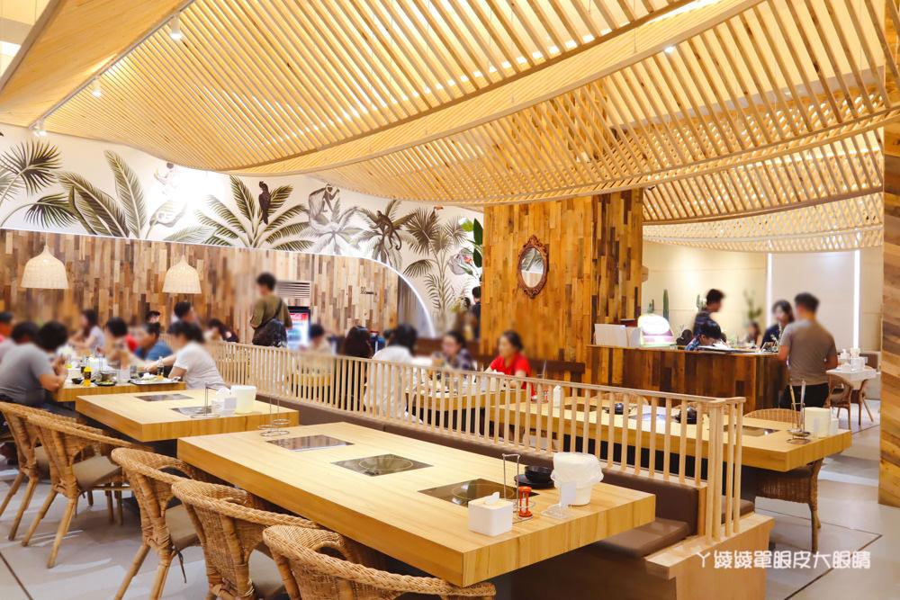 台南火鍋推薦花花世界鍋物-火鍋界中的唯一奇葩!宵夜就吃台南新開幕美得冒泡叢林風的鍋物店
