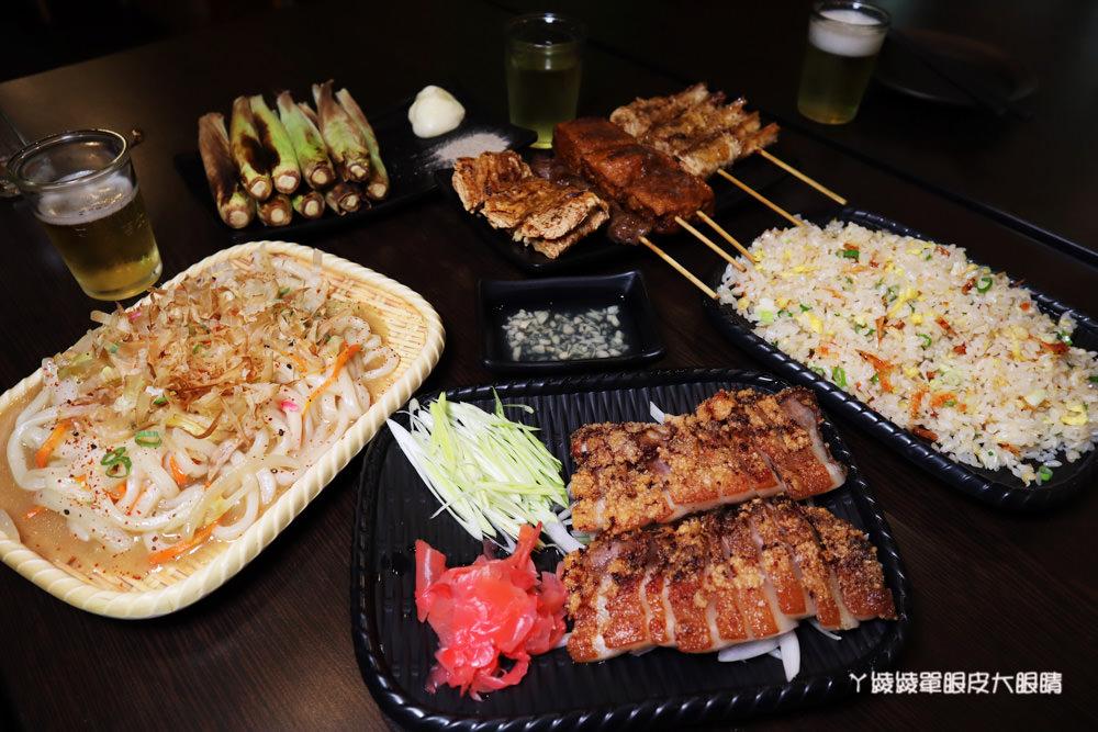 新竹平價宵夜熱炒推薦男子漢居酒屋!必吃澎湖牡蠣、冰鎮中卷、豆皮皮蛋串跟手工豆干