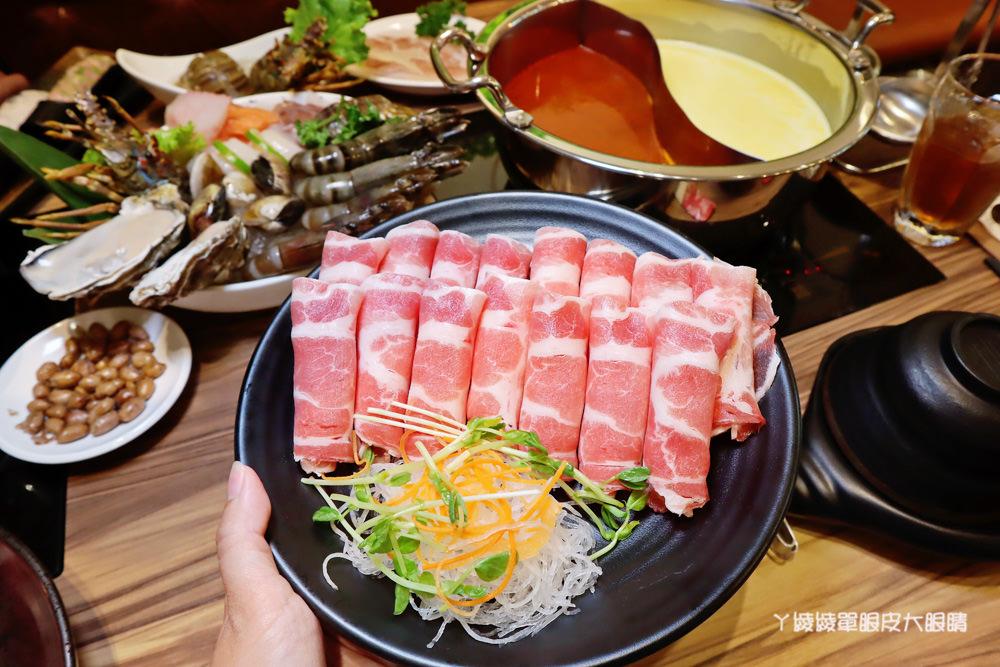 新竹巨城附近美食火鍋推薦香聚鍋物!一喝就上癮的火鍋湯頭,激推台灣優酪豬、手工香菜豬肉滑