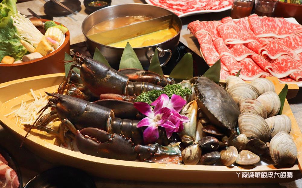 新竹火鍋推薦上官木桶鍋!竹北活體海鮮火鍋,竹科人揪團吃起來!免費請你吃肉盤