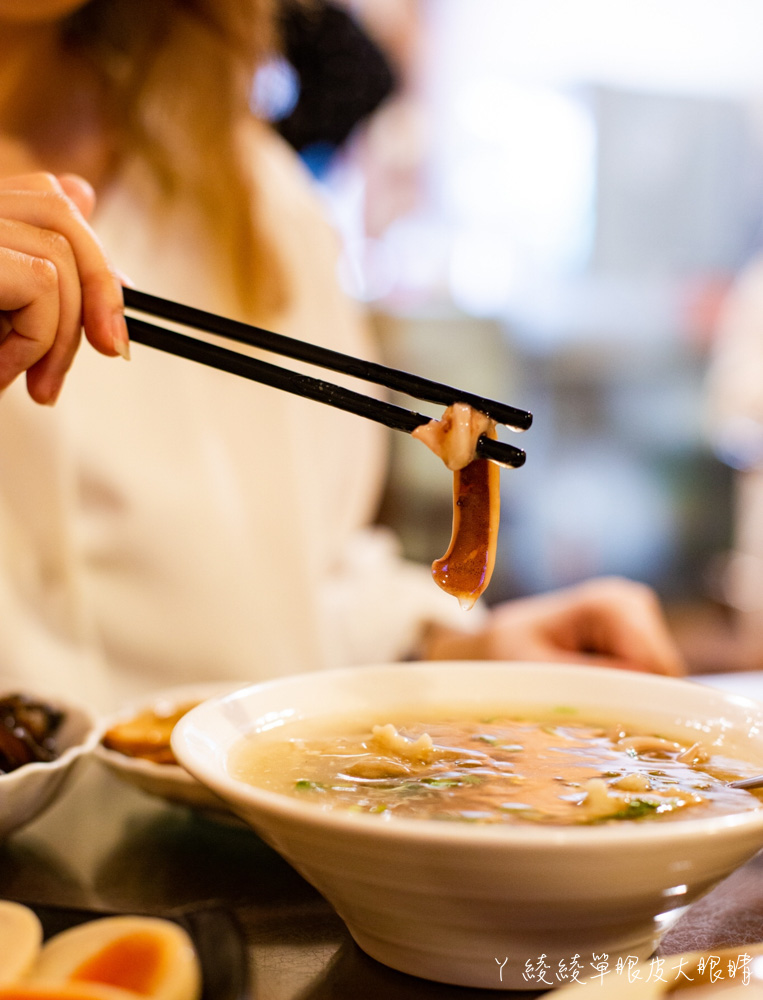 新竹美食小吃推薦光華魷魚羹!一碗五十元可吃到三種料!古早味客家湯圓、麵疙瘩、米苔目