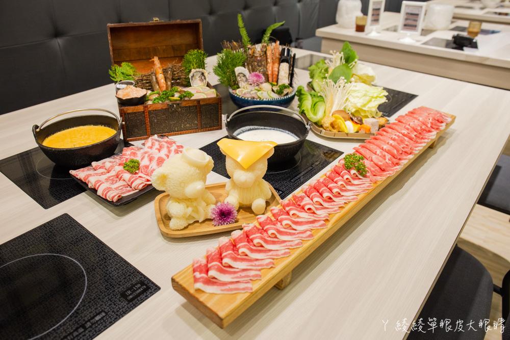 超浮誇海鮮寶藏盒兩百元有找!新竹火鍋摸高比賽,完成指定動作每兩公分送一片肉