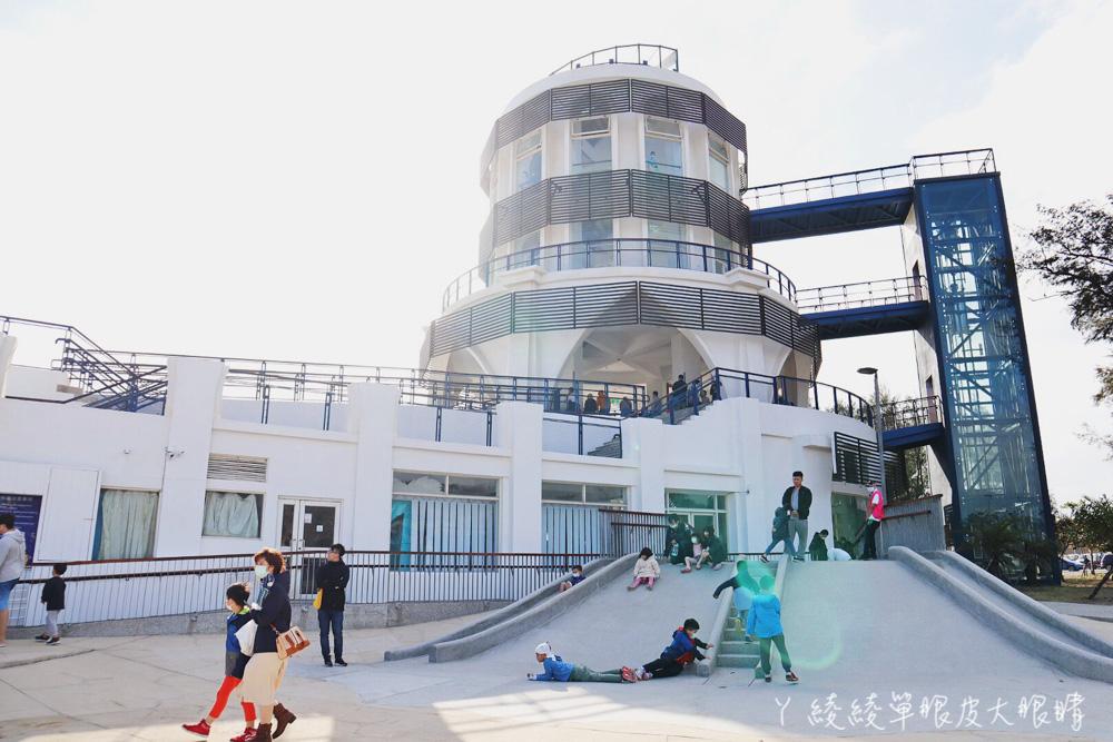 新竹南寮旅遊服務中心大變身!新竹親子景點溜滑梯,兩層樓高室內溜滑梯打造全新親子樂園
