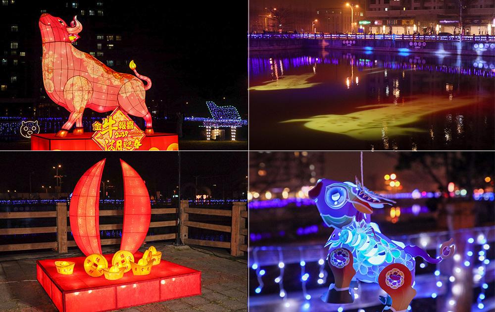 2021新竹湖口燈會今於湖心公園登場!超過四米高主燈祈福牛及全台最大許願湖,元宵節小提燈發放方式