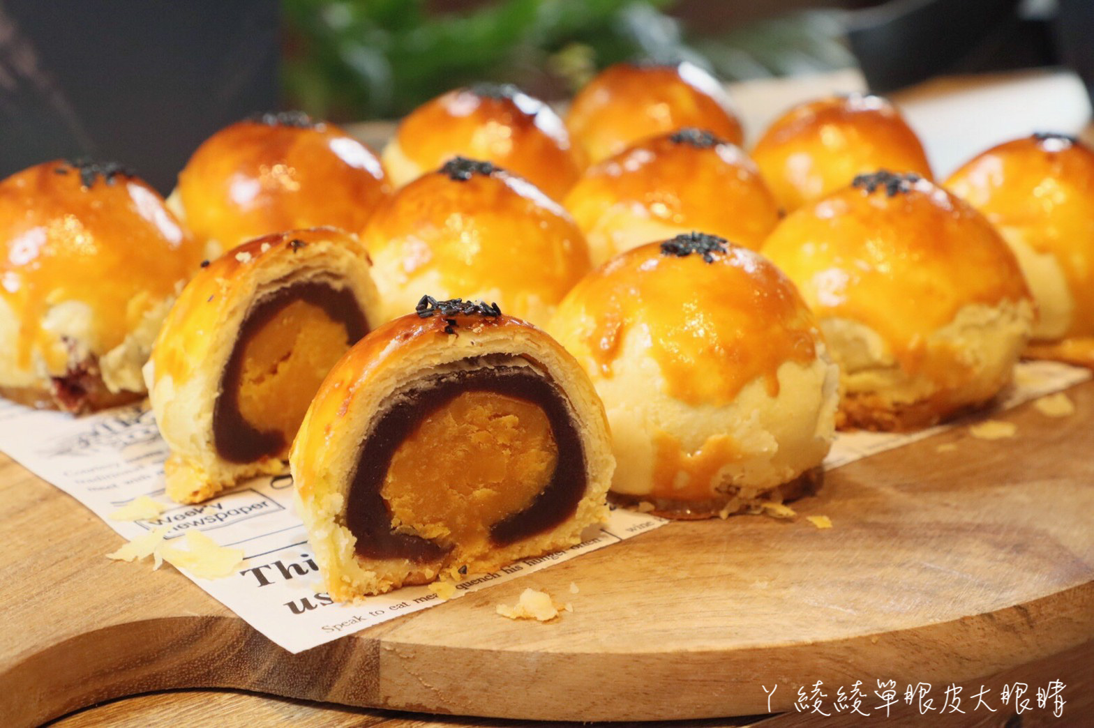 新竹巨城附近早午餐推薦格林小鎮!中秋月餅禮盒蛋黃酥好吃到想哭,點主餐免費招待麵包吃到飽