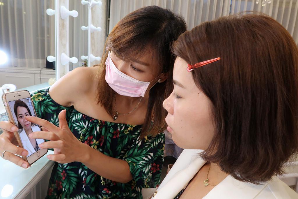新北板橋飄眉《格妮整體造型美學工作室》半永久韓式飄眉推薦找Sunny,板橋客運站