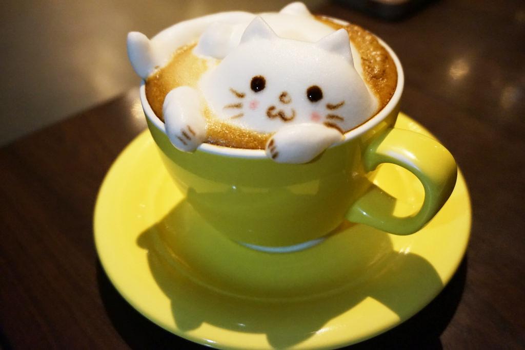 新竹羅塔仕咖啡,多達22種可愛動物系的立體拉花